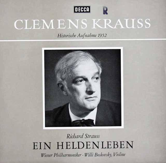 クラウスのR.シュトラウス/「英雄の生涯」   独DECCA 2950 LP レコード