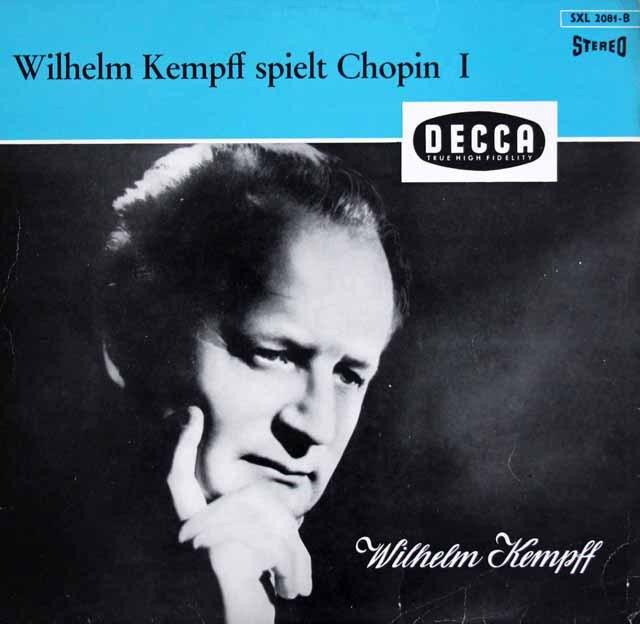 【独最初期盤】ケンプのショパン vol.1   独DECCA 2950 LP レコード