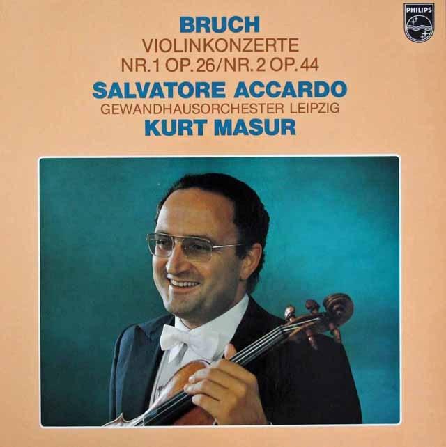アッカルド&マズアのブルッフ/ヴァイオリン協奏曲第1&2番   蘭PHILIPS 2950 LP レコード