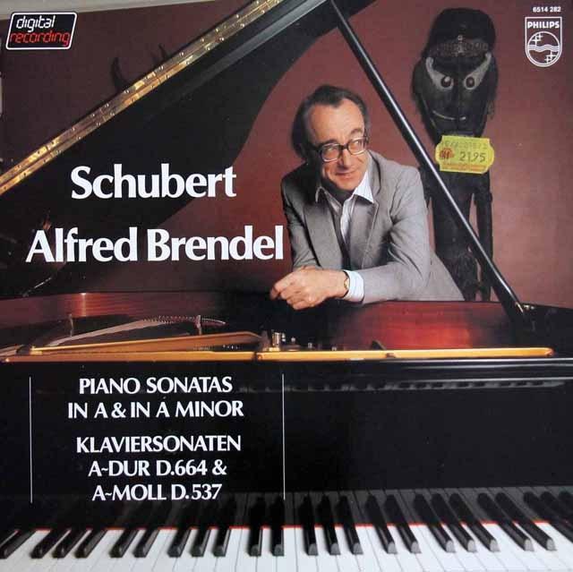 ブレンデルのシューベルト/ピアノソナタ第4&13番   蘭PHILIPS 2950 LP レコード