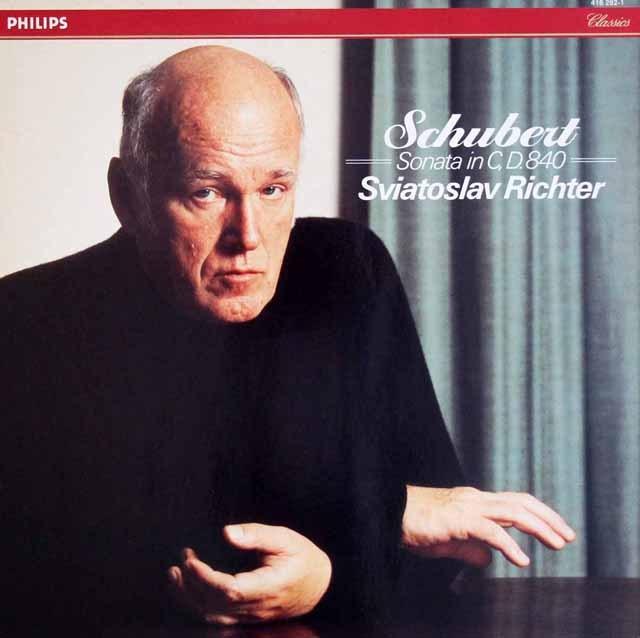 リヒテルのシューベルト/ピアノソナタ第15番 蘭PHILIPS 3395 LP レコード