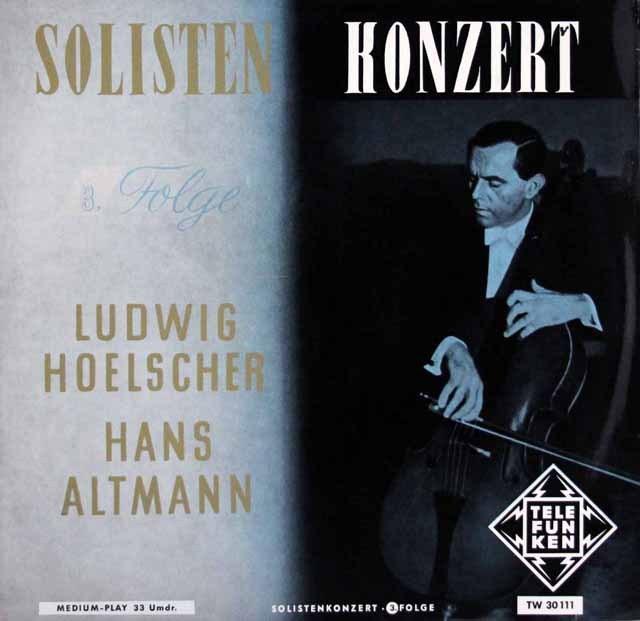 ヘルシャーの「ソロ・コンサート」vol.3     独TELEFUNKEN 2950 LP レコード