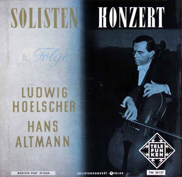 ヘルシャーの「ソロ・コンサート」vol.5     独TELEFUNKEN 2950 LP レコード