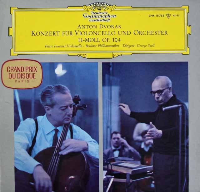 フルニエ&セルのドヴォルザーク/チェロ協奏曲     独DGG 2950 LP レコード