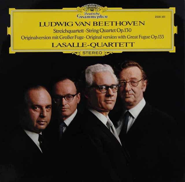 ラサール四重奏団のベートーヴェン/弦楽四重奏曲第13番     独DGG 2950 LP レコード