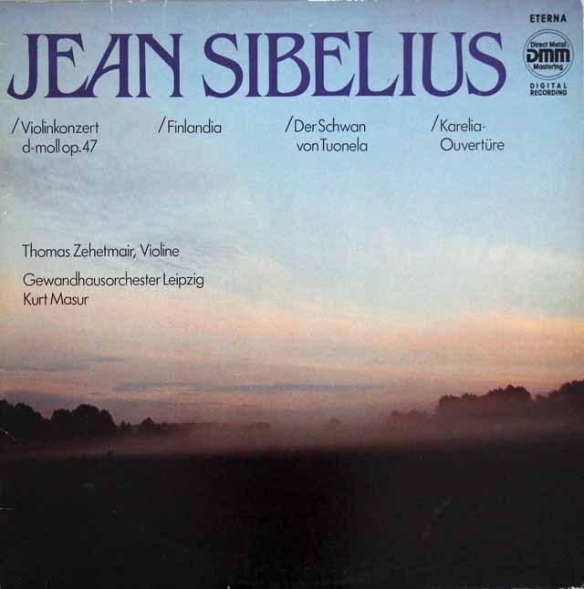 ツェートマイヤー&マズアのシベリウス/ヴァイオリン協奏曲ほか     独ETERNA 2950 LP レコード