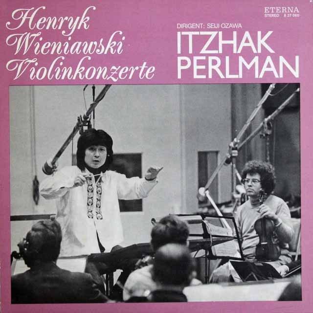 パールマン&小澤のヴィエニャフスキ/ヴァイオリン協奏曲第1&2番     独ETERNA 2950 LP レコード