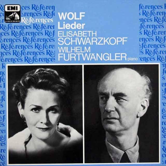 シュヴァルツコップ&フルトヴェングラーのヴォルフ/歌曲集 仏EMI 3395 LP レコード