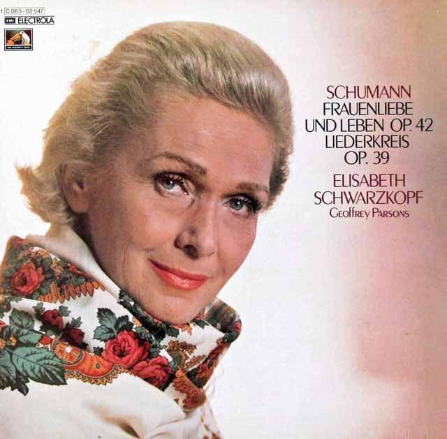 シュヴァルツコップのシューマン/「女の愛と生涯」&「リーダー・クライス」     独EMI 2950 LP レコード