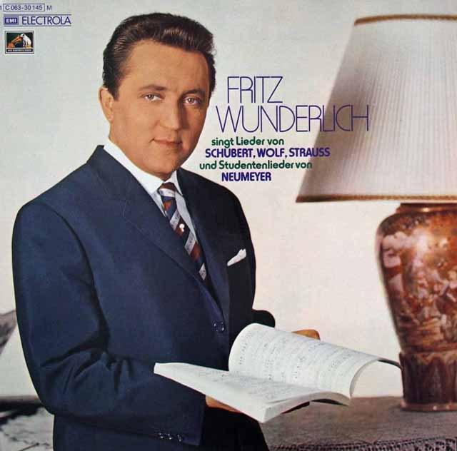 ヴンダーリヒのノイマイヤー/「学生の歌」ほか 独EMI 3395 LP レコード