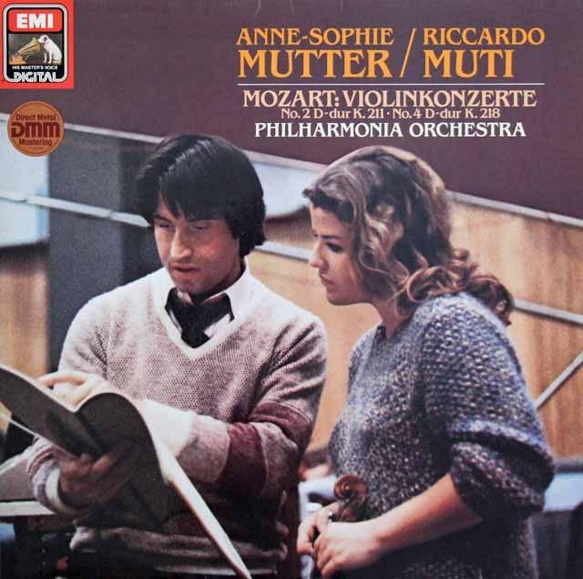 ムター&ムーティのモーツァルト/ヴァイオリン協奏曲第2&4番  独EMI 2996 LP レコード