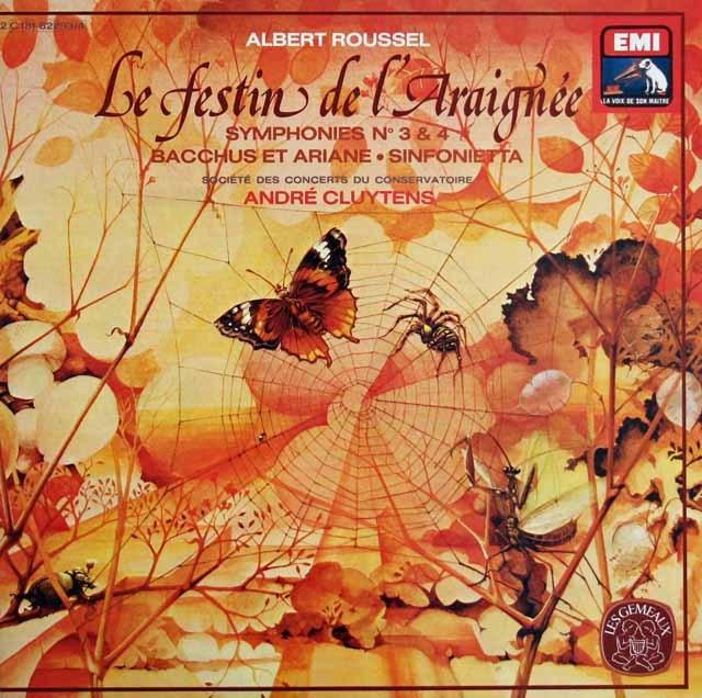 クリュイタンスのルーセル/交響曲第3&4番ほか  仏EMI(VSM) 2996 LP レコード