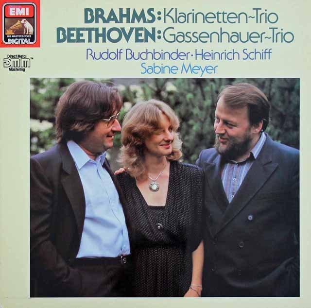 ブッフビンダー、シフ&マイヤーのブラームス&ベートーヴェン/クラリネット三重奏集  独EMI 2996 LP レコード