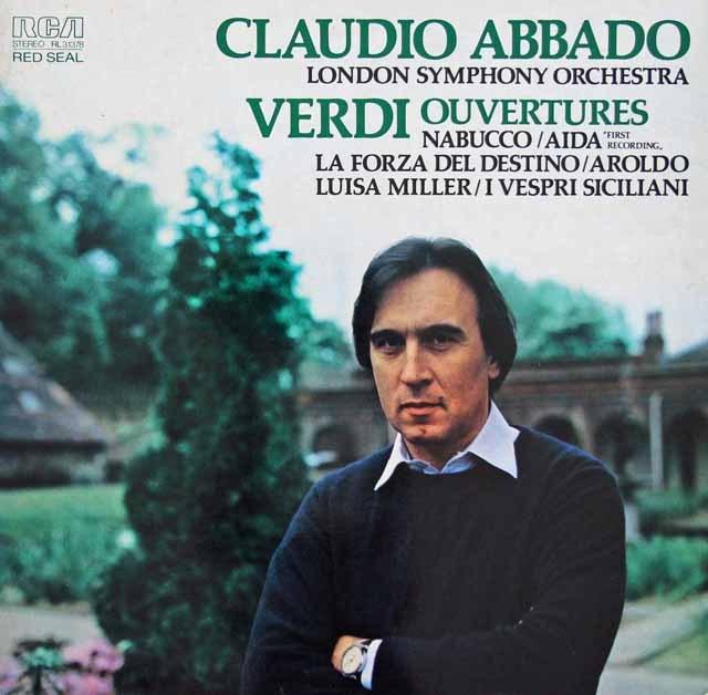 アバドのヴェルディ/オペラ序曲集 独RCA 2996 LP レコード