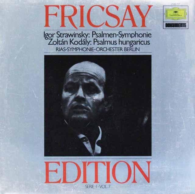 フリッチャイのストラヴィンスキー/詩篇交響曲ほか  独DGG 2997 LP レコード