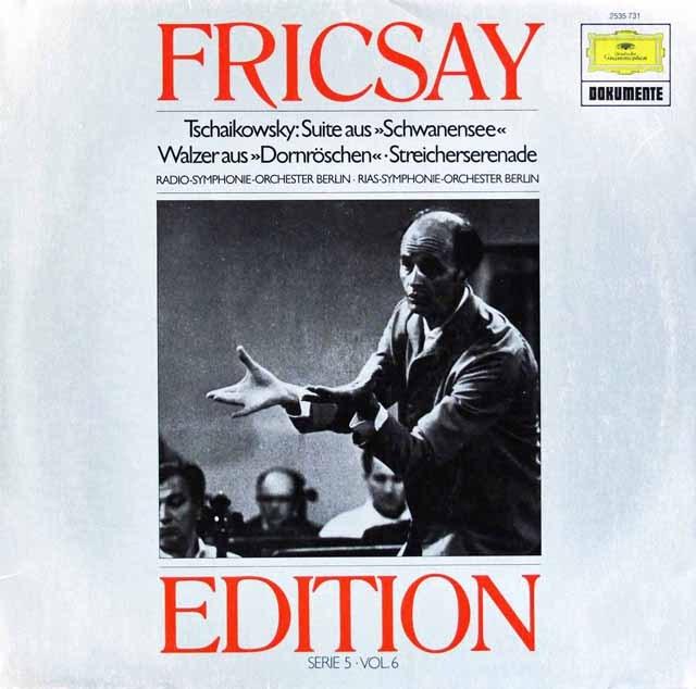 フリッチャイのチャイコフスキー/バレエ音楽「白鳥の湖」ほか  独DGG 2997 LP レコード