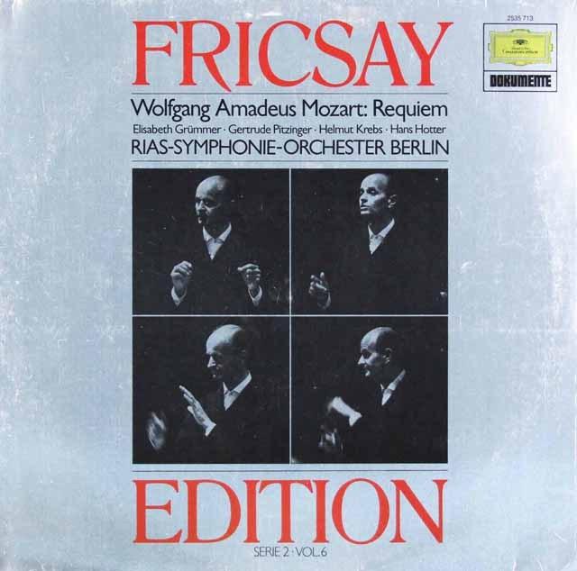 フリッチャイのモーツァルト/「レクイエム」  独DGG 2997 LP レコード