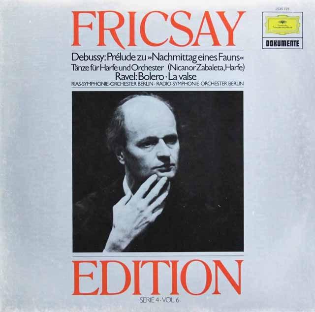 フリッチャイのドビュッシー/「牧神の午後への前奏曲」ほか  独DGG 2997 LP レコード