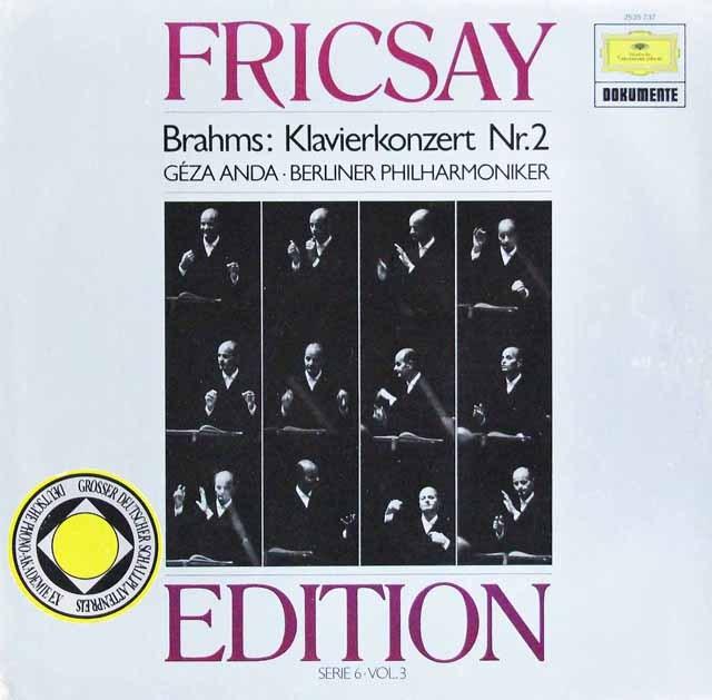 アンダ&フリッチャイのブラームス/ピアノ協奏曲第2番  独DGG 2997 LP レコード
