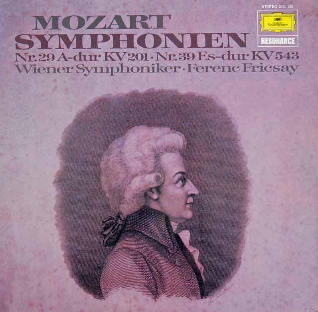 フリッチャイのモーツァルト/交響曲第29&39番  独DGG 2997 LP レコード