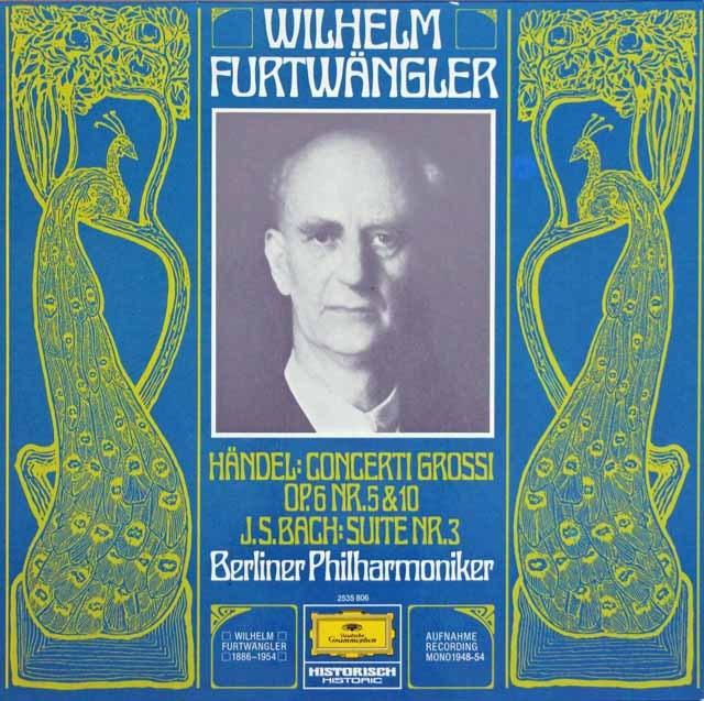 フルトヴェングラーのバッハ/管弦楽組曲第3番ほか  独DGG 2997 LP レコード