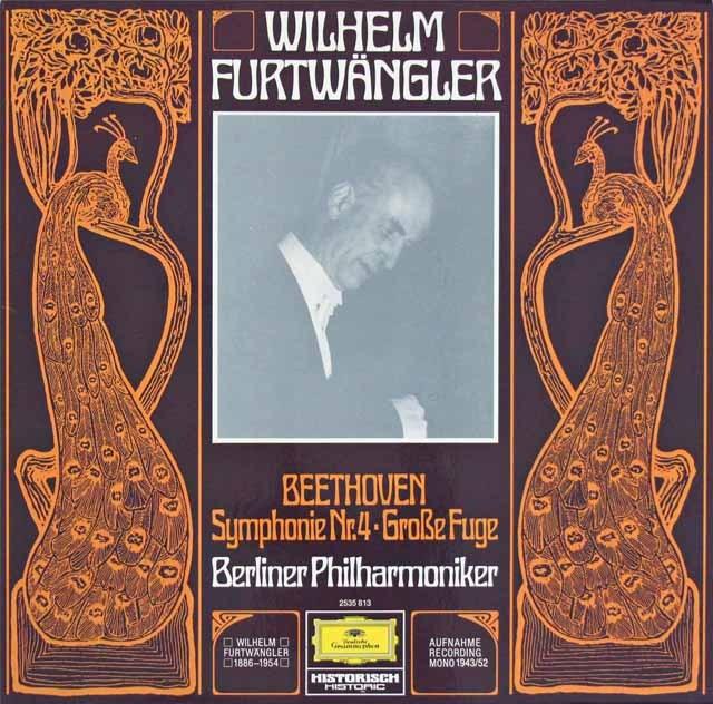 フルトヴェングラーのベートーヴェン/交響曲第4番ほか  独DGG 2997 LP レコード