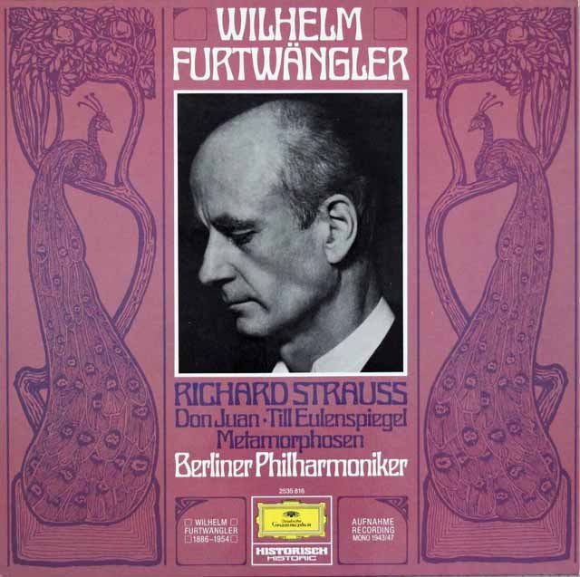 フルトヴェングラーのR.シュトラウス/「ドン・ファン」ほか  独DGG 2997 LP レコード