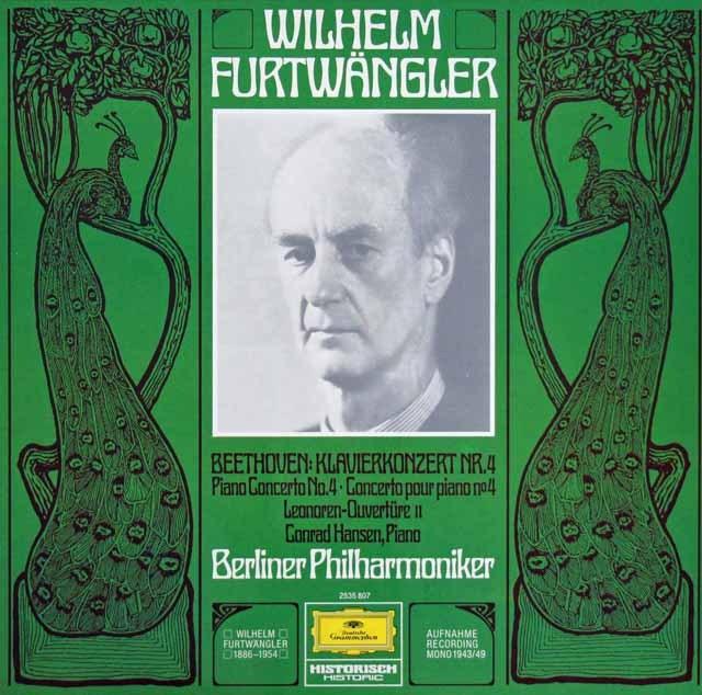 ハンゼン&フルトヴェングラーのベートーヴェン/ピアノ協奏曲第4番  独DGG 2997 LP レコード