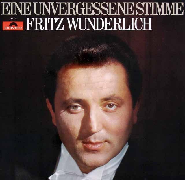 ヴンダーリヒ追悼/名演集 独Polydor 3394 LP レコード