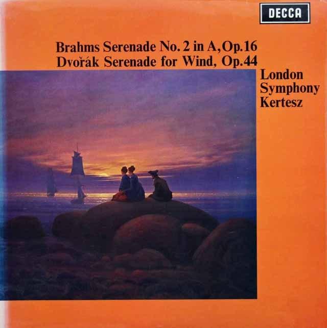 ケルテスのブラームス/セレナード第2番ほか 英DECCA 3394 LP レコード