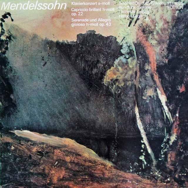 シュテッキヒト&ケーゲルのメンデルスゾーン/ピアノ協奏曲イ短調ほか     独ETERNA 3002 LP レコード
