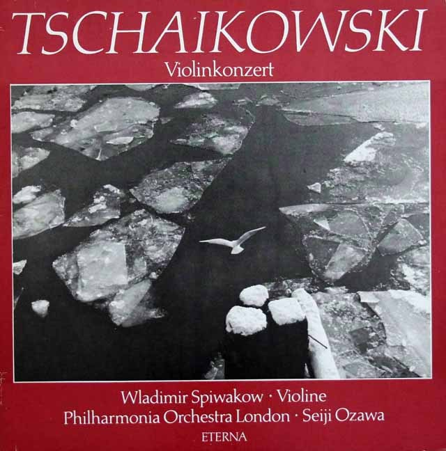 スピヴャコフ&小澤のチャイコフスキー/ヴァイオリン協奏曲     独ETERNA 3002 LP レコード