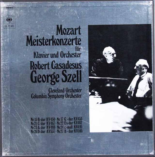 カサドシュ&セルのモーツァルト/ピアノ協奏曲集   独CBS 3002 LP レコード