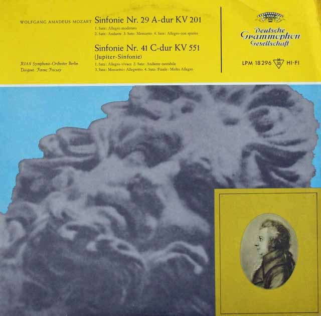フリッチャイのモーツァルト/交響曲第29&41番「ジュピター」 独DGG 3394 LP レコード