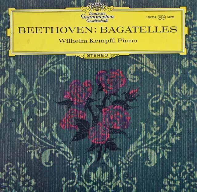 【独最初期盤】ケンプのベートーヴェン/バガテル集 (「エリーゼのために」ほか)   独DGG 3002 LP レコード