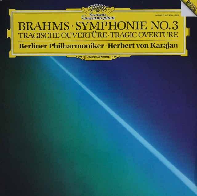 カラヤンのブラームス/交響曲第3番ほか   独DGG 3002 LP レコード