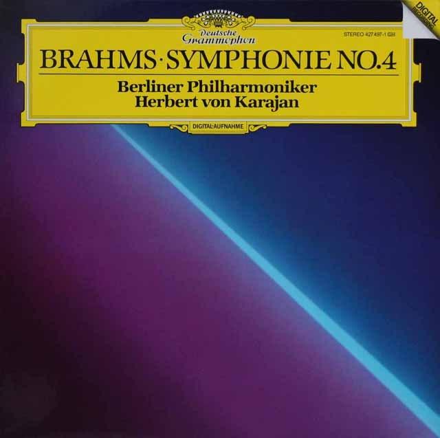 カラヤンのブラームス/交響曲第4番   独DGG 3002 LP レコード