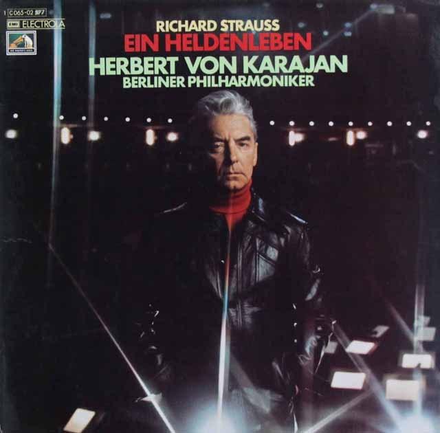 【独最初期盤】カラヤンのR.シュトラウス/「英雄の生涯」   独EMI 3002 LP レコード