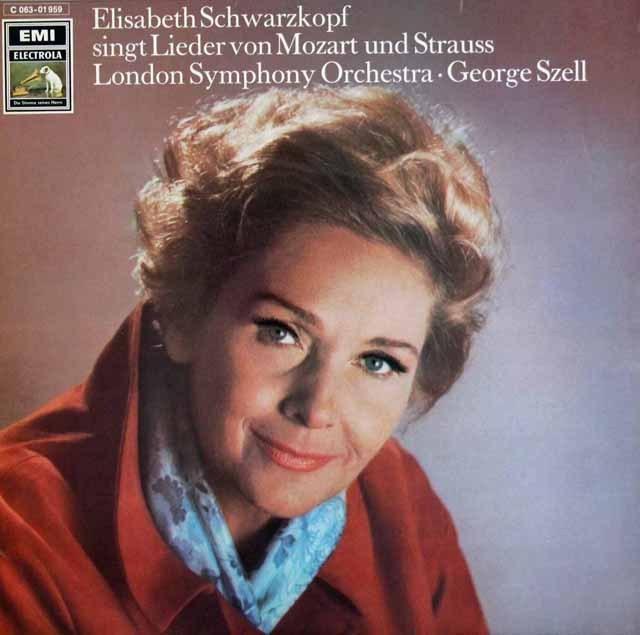 シュヴァルツコップ&セルのモーツァルト&R.シュトラウス/歌曲集 独EMI 3394 LP レコード