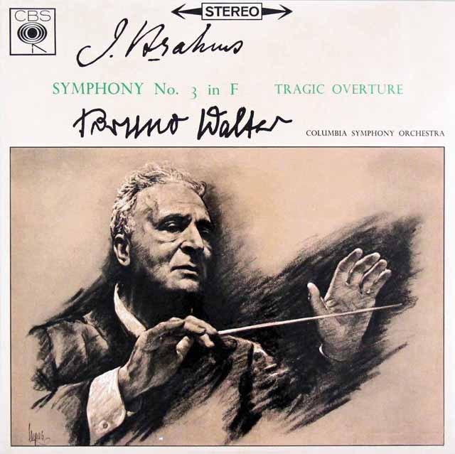 ワルターのブラームス/交響曲第3番ほか   英CBS 3002 LP レコード
