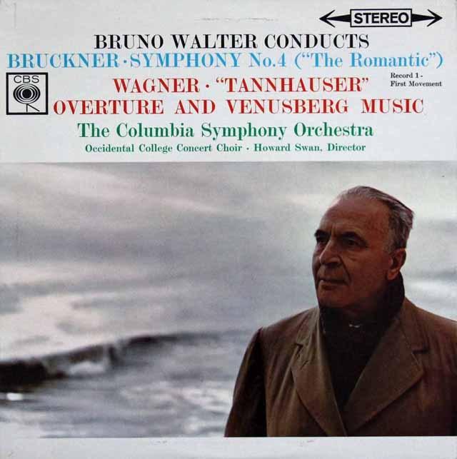 ワルターのブルックナー/交響曲第4番「ロマンティック」ほか   英CBS 3002 LP レコード