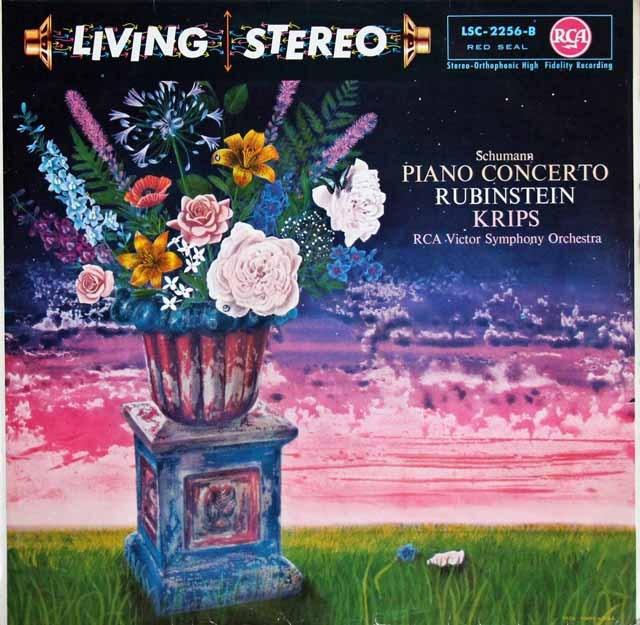 ルービンシュタイン&クリップスのシューマン/ピアノ協奏曲   独RCA 3002 LP レコード