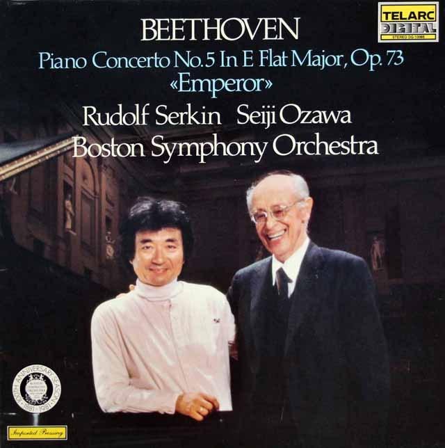 ゼルキン&小澤のベートーヴェン/ピアノ協奏曲第5番「皇帝」    独TELARC 3003 LP レコード