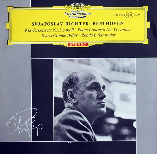 【赤ステレオ】リヒテル&ザンデルリンクのベートーヴェン/ピアノ協奏曲第3番ほか  独DGG 3003 LP レコード
