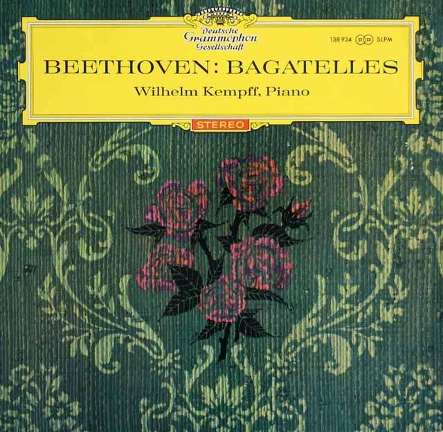 【赤ステレオ】ケンプのベートーヴェン/バガテル集 (作品126)&「エリーゼのために」ほか  独DGG 3003 LP レコード