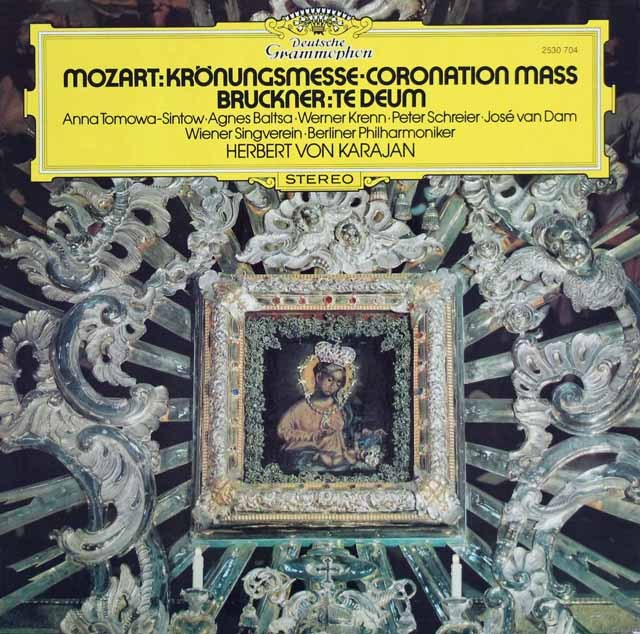 カラヤンのモーツァルト/「戴冠式ミサ」ほか 独DGG 3394 LP レコード