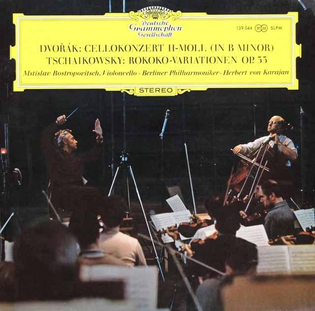 ロストロポーヴィチ&カラヤンのドヴォルザーク/チェロ協奏曲ほか  独DGG 3003 LP レコード