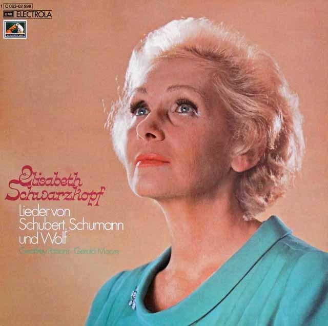 シュヴァルツコップのシューベルト、シューマン&ヴォルフ/歌曲集  独EMI 3394 LP レコード