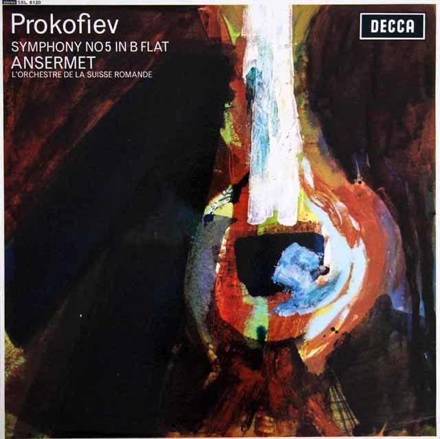 アンセルメのプロコフィエフ/交響曲第5番  英DECCA 3394 LP レコード