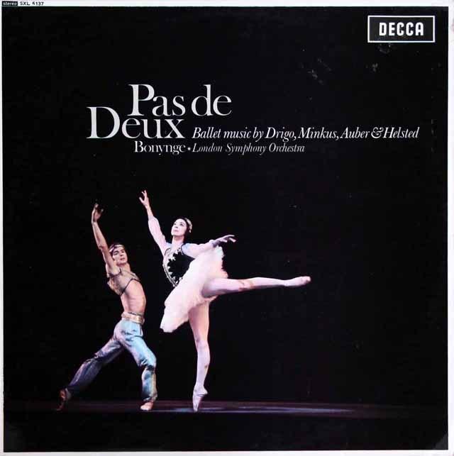 ボニングのドリゴ/「海賊」のパ・ド・ドゥーほか  英DECCA 3394 LP レコード